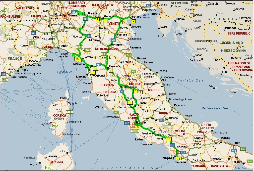 RouteItalie2008